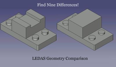 Geometry Comparison technology making it easier for CAD/CAM/CAE software to find differences between similar-looking models