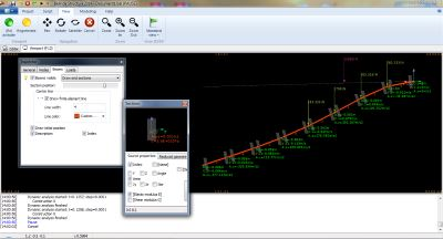 Belinda Structure software calculating  non-linear deformations